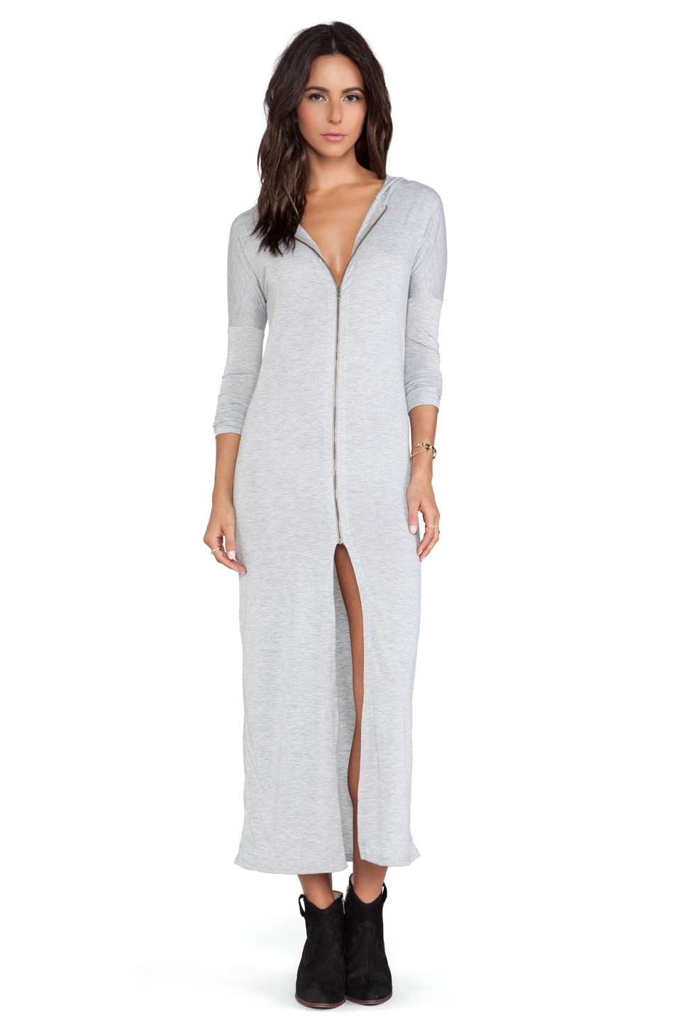 Blue Life Unzip Me Maxi in Silver Silk Sheets