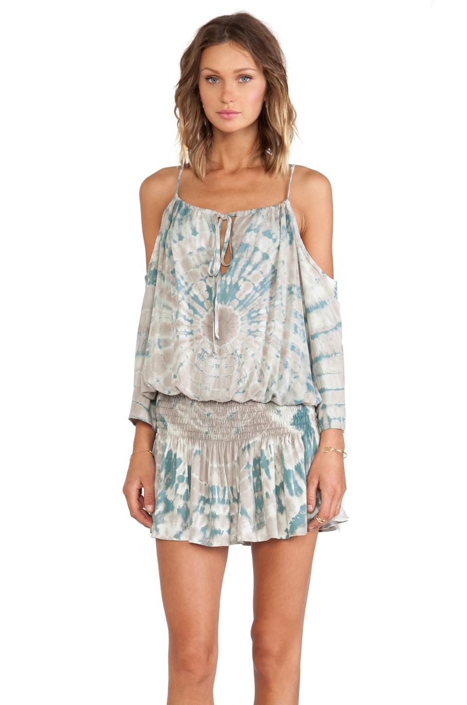 Blue Life Shirred Waist Halter Dress in Beach
