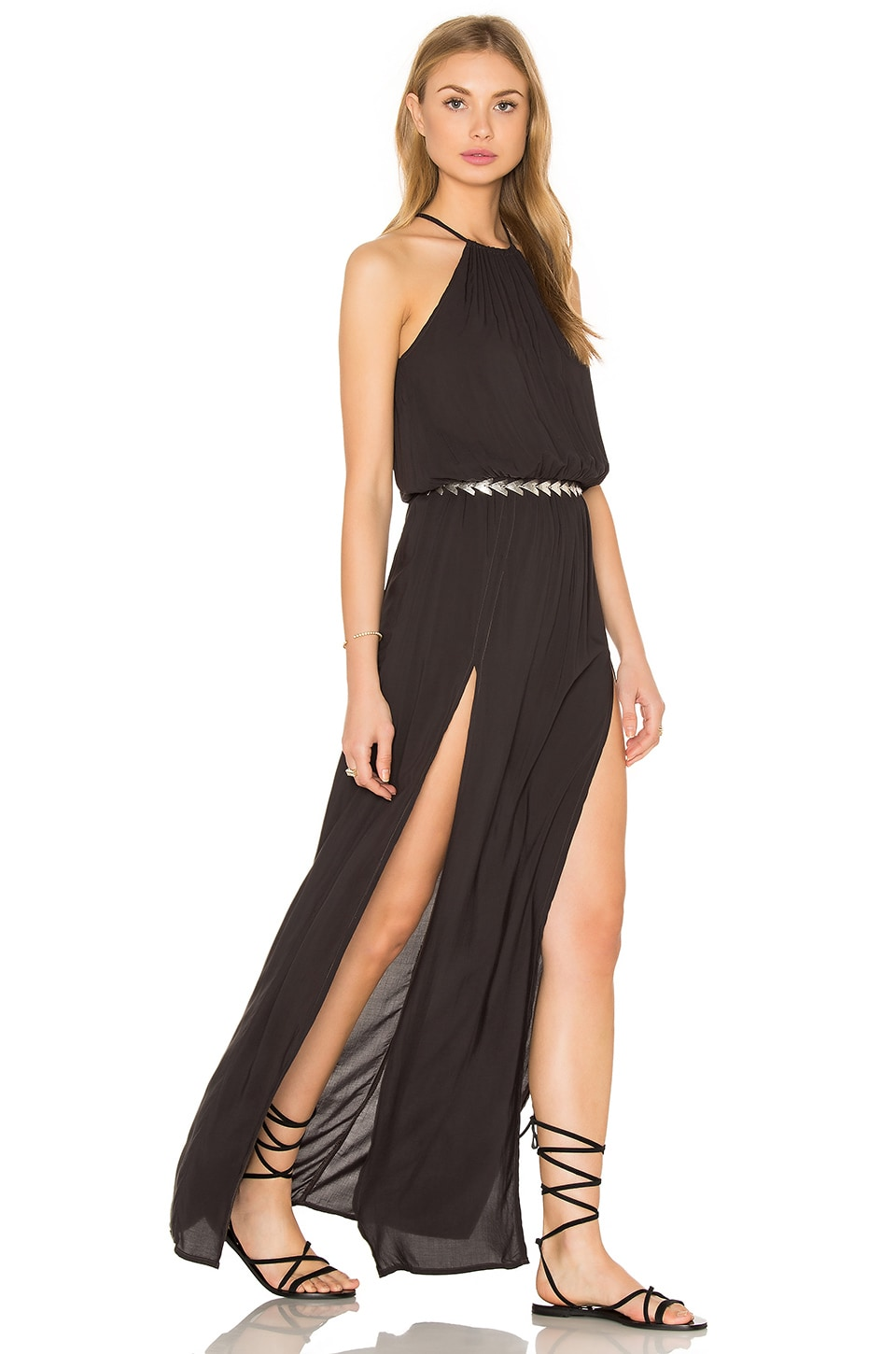 Double Slit Maxi Dress by Blue Life