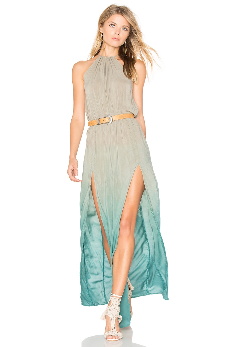 Slit Halter Dress by Blue Life