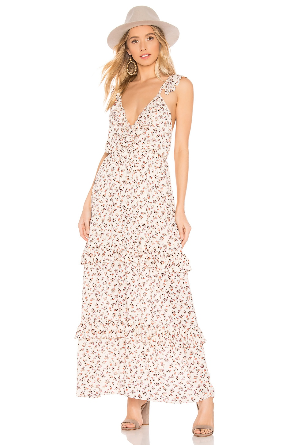 Blue Life Valerie Maxi Dress in Cherry Blossom Ivory