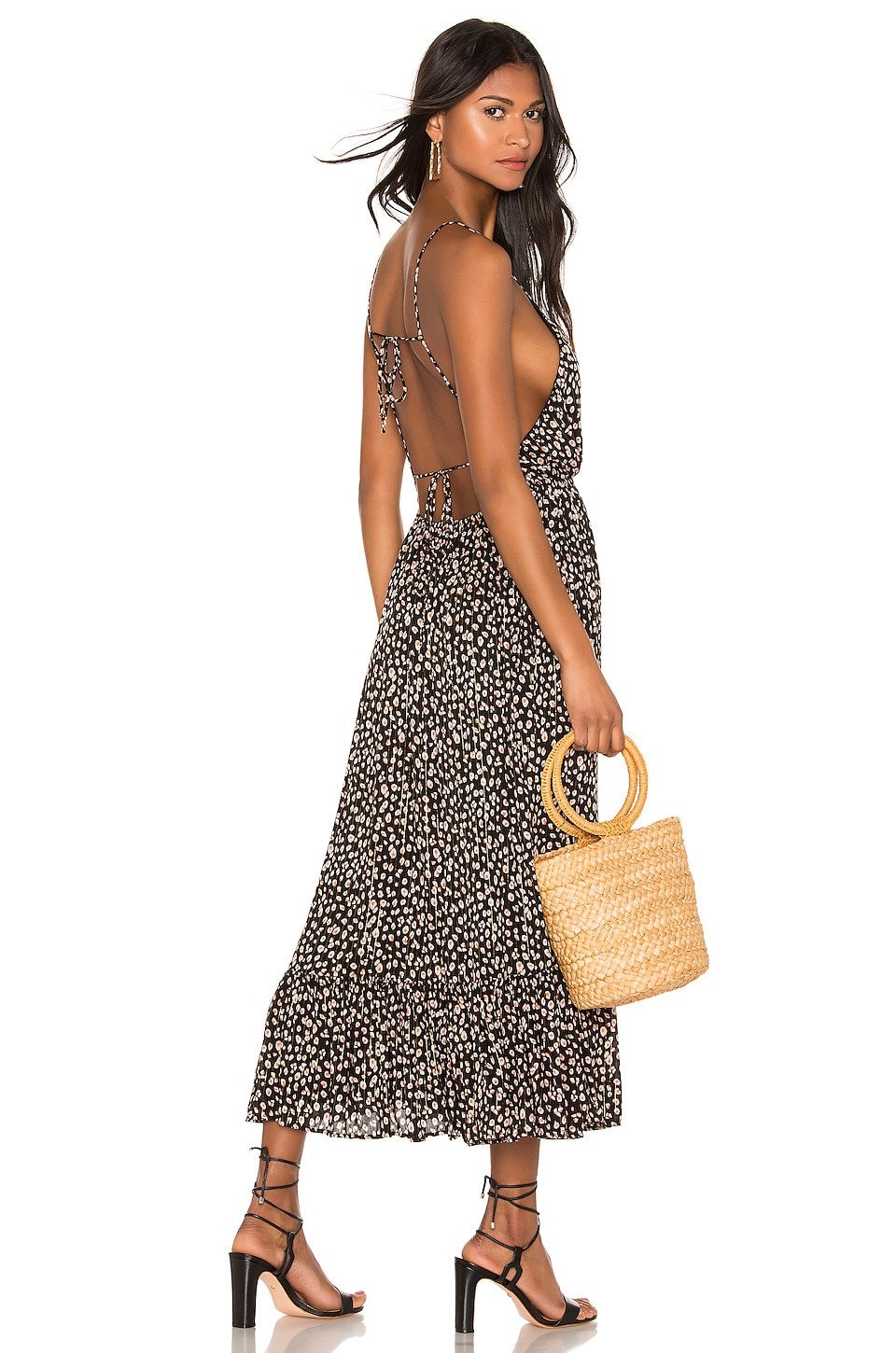 Blue Life Baylee Midi Dress in Mini Leopard Black