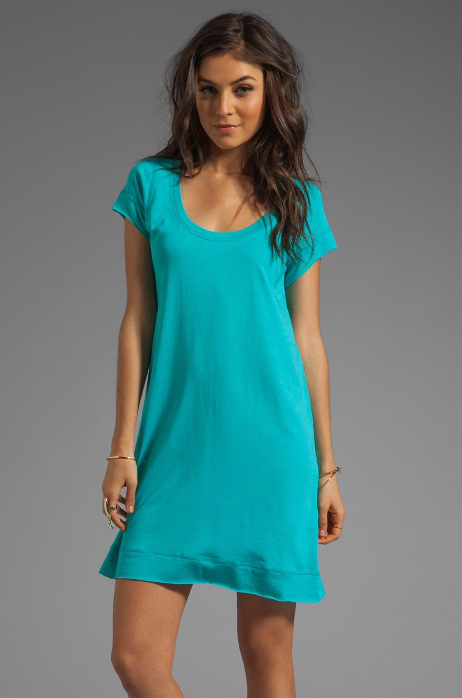 Blue Life Roll Hem T-Shirt Dress in Jade