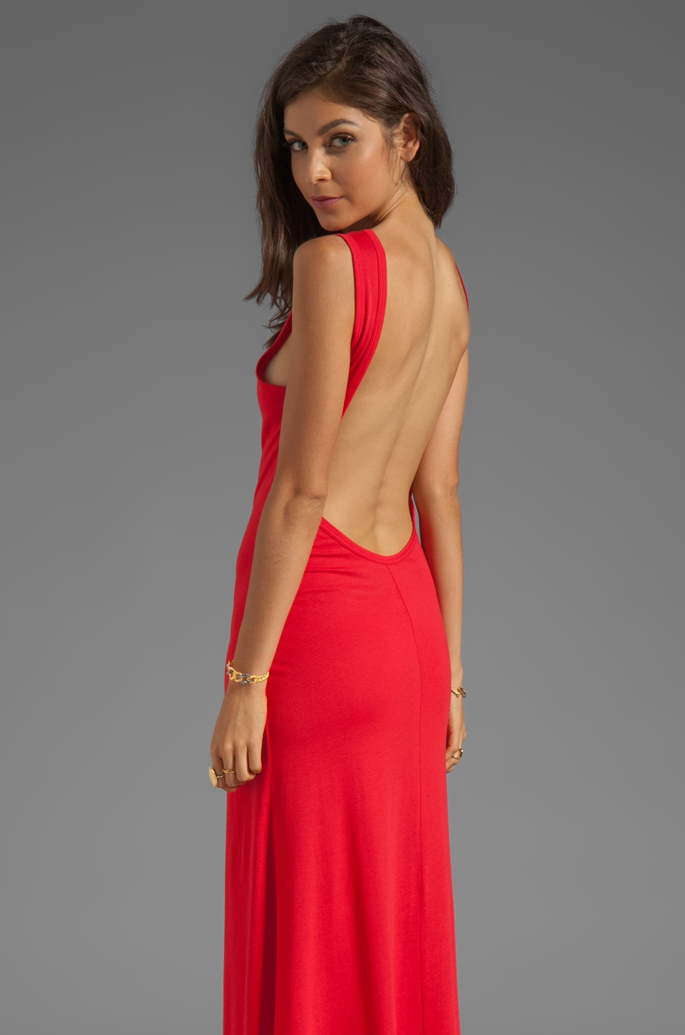 Blue Life Open Back Maxi Dress in Red