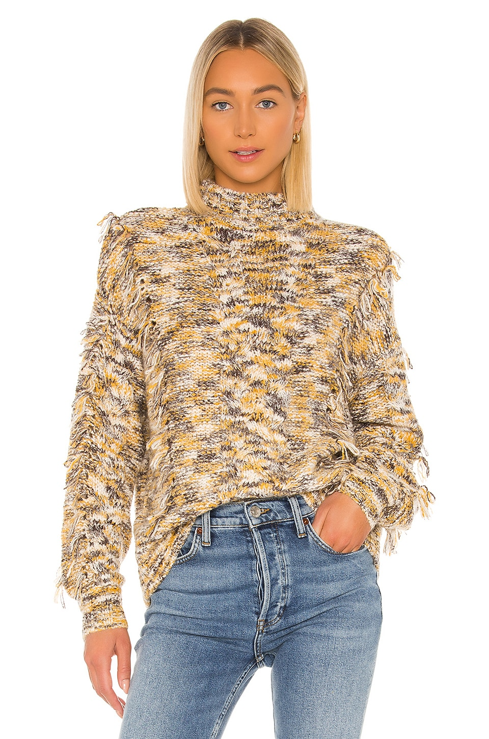 Blue Life Cosette Sweater in Gold & Black Multi