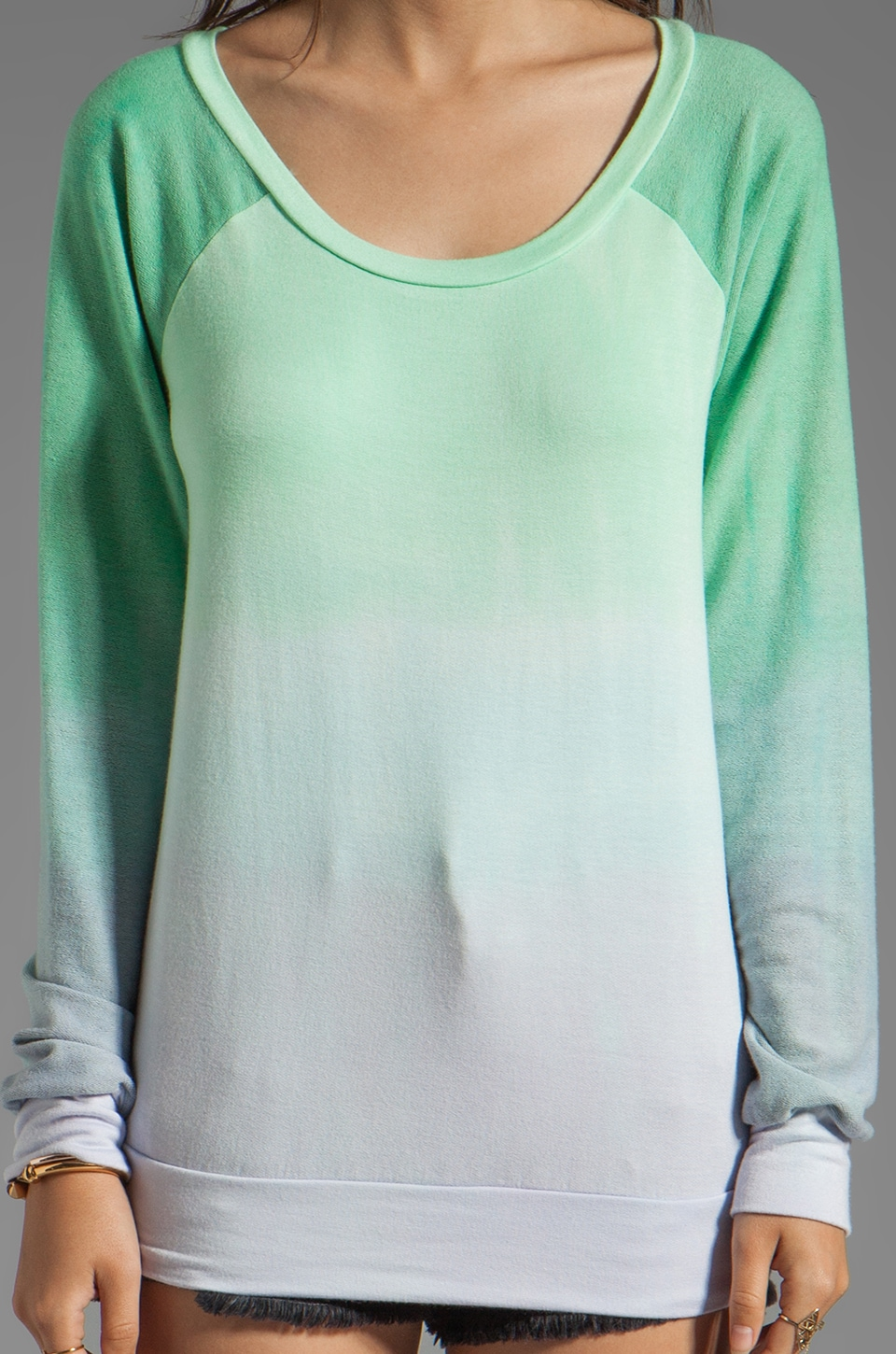 Blue Life Classic Sweatshirt in Mint/Ocean Breeze
