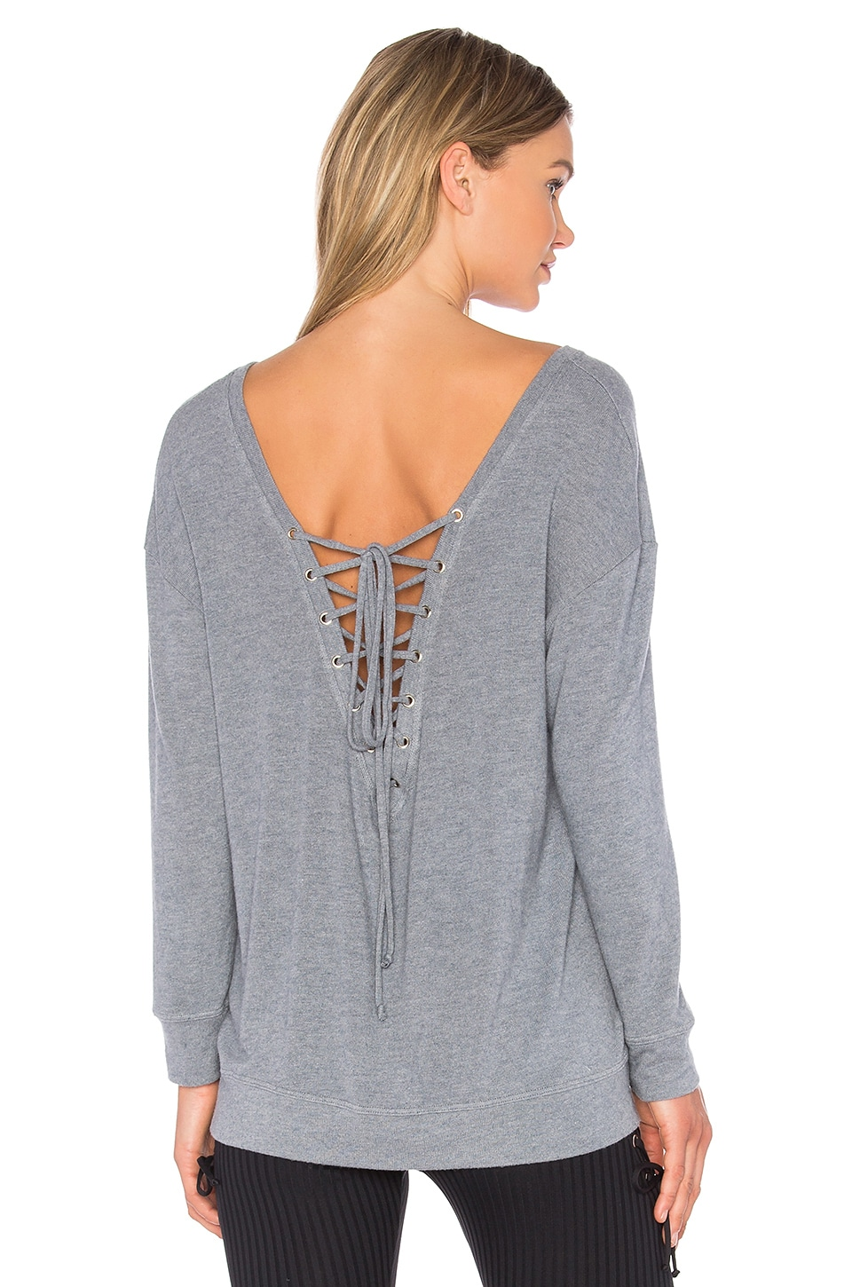 Blue Life Fit Tied Up Sweatshirt in Slate