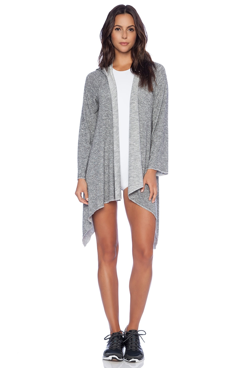 Blue Life Slouchy Hooded Cardigan in Galaxy Metallic