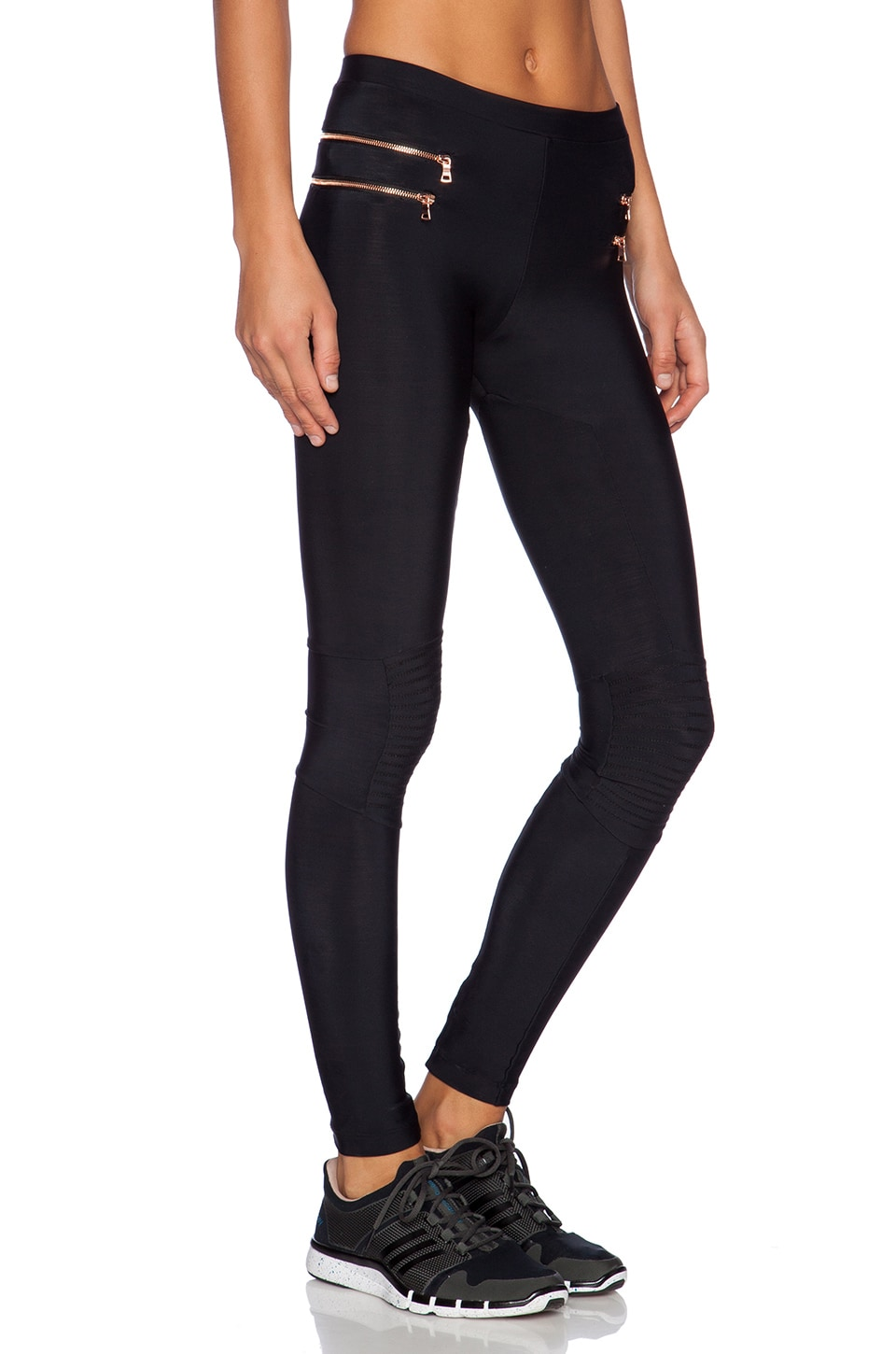 Blue Life Fit Zipper Moto Legging in Black | REVOLVE