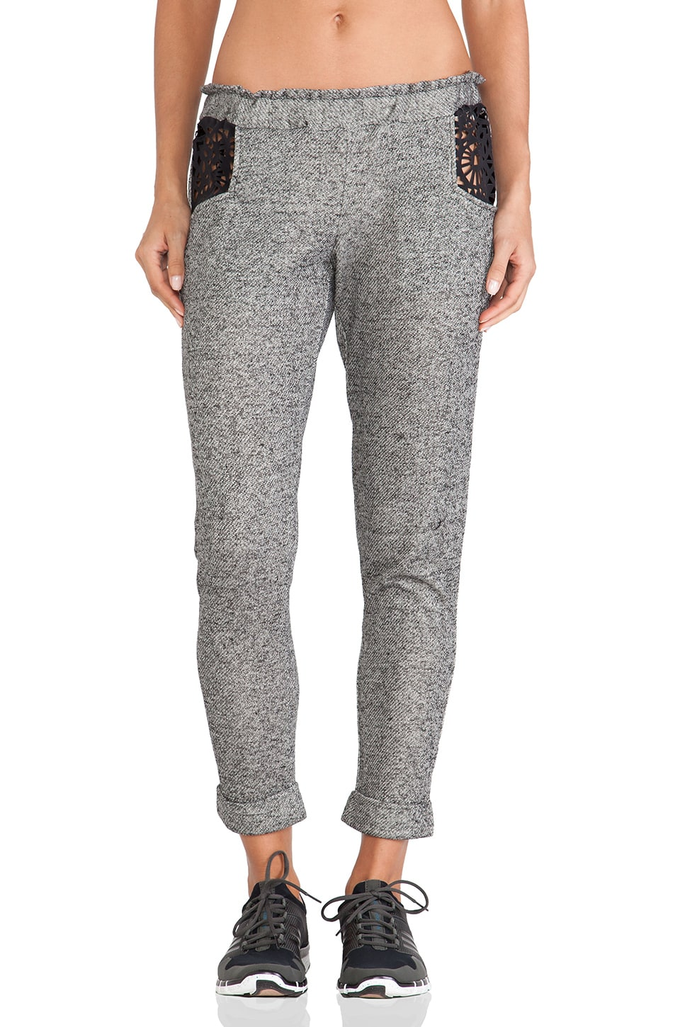 Blue Life Fit Lasercut Sweatpant in Midnight