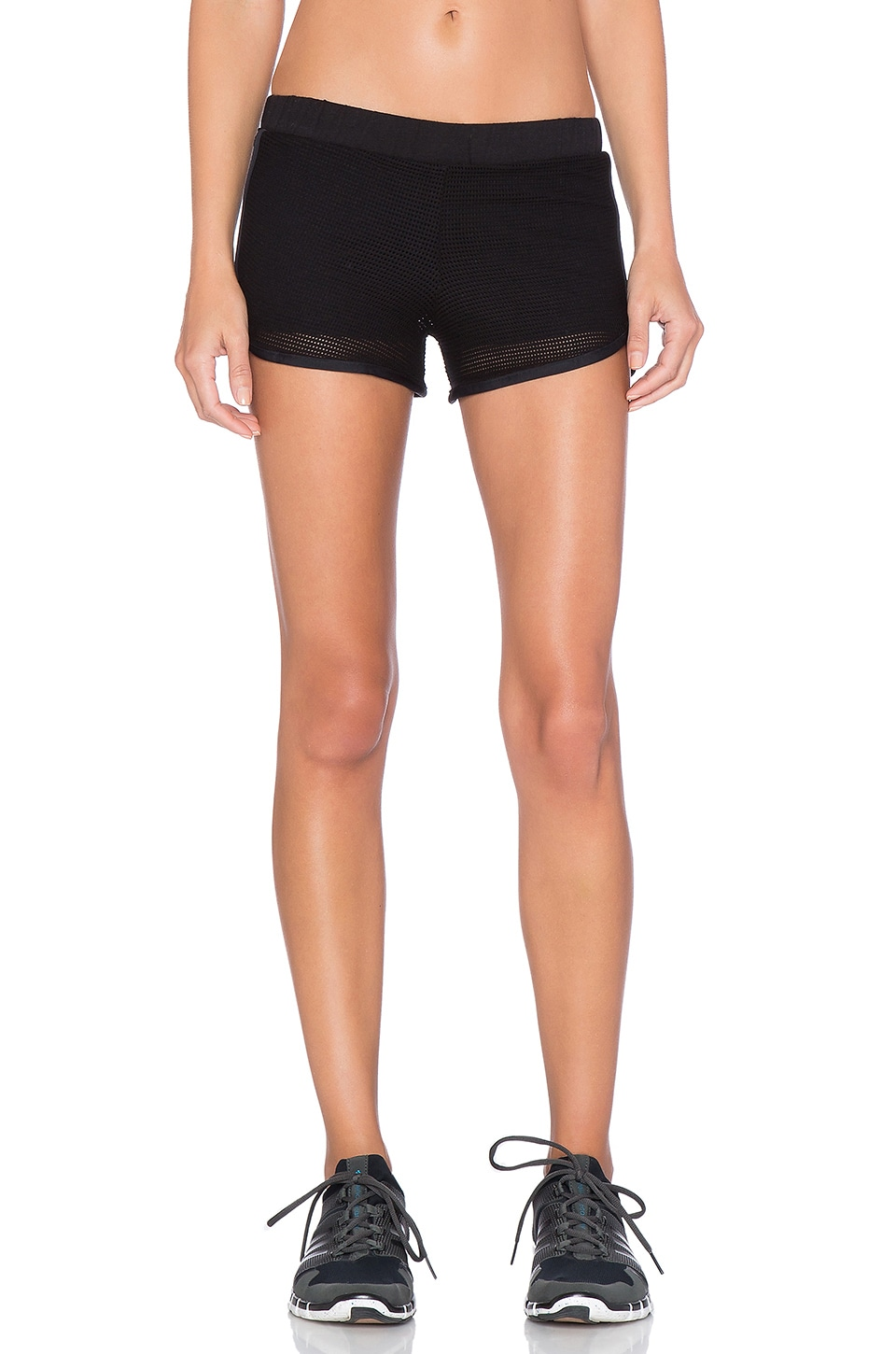 Blue Life Mesh Running Short in Black