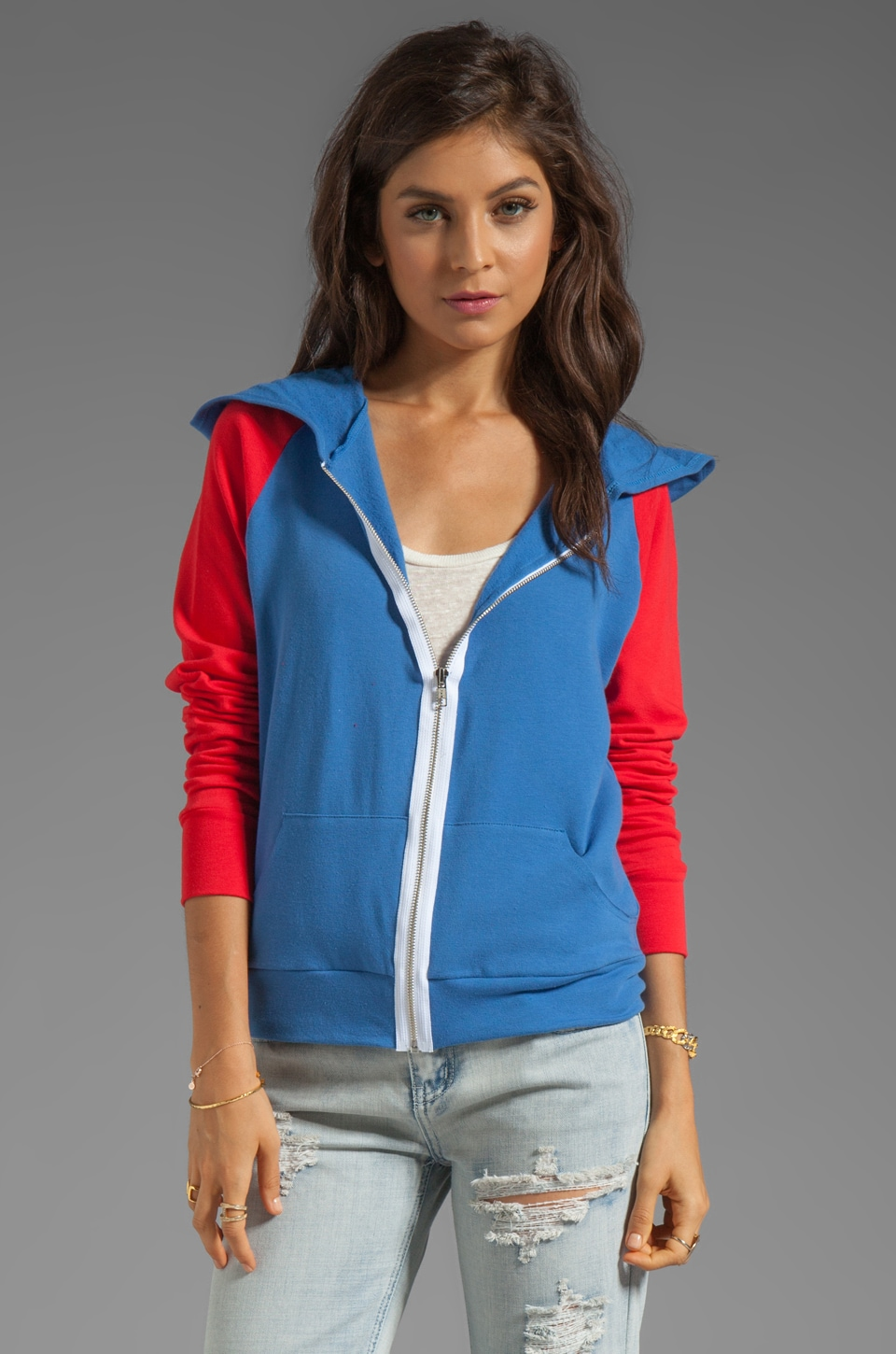 Blue Life Sweatshirt Hoodie in Red Flag