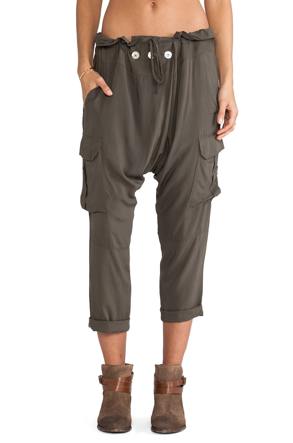 Blue Life Thai One On Pants in Military Green