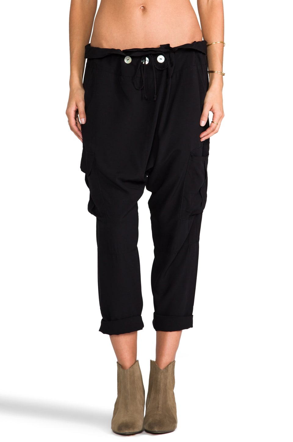 Blue Life Thai One On Pants in Black