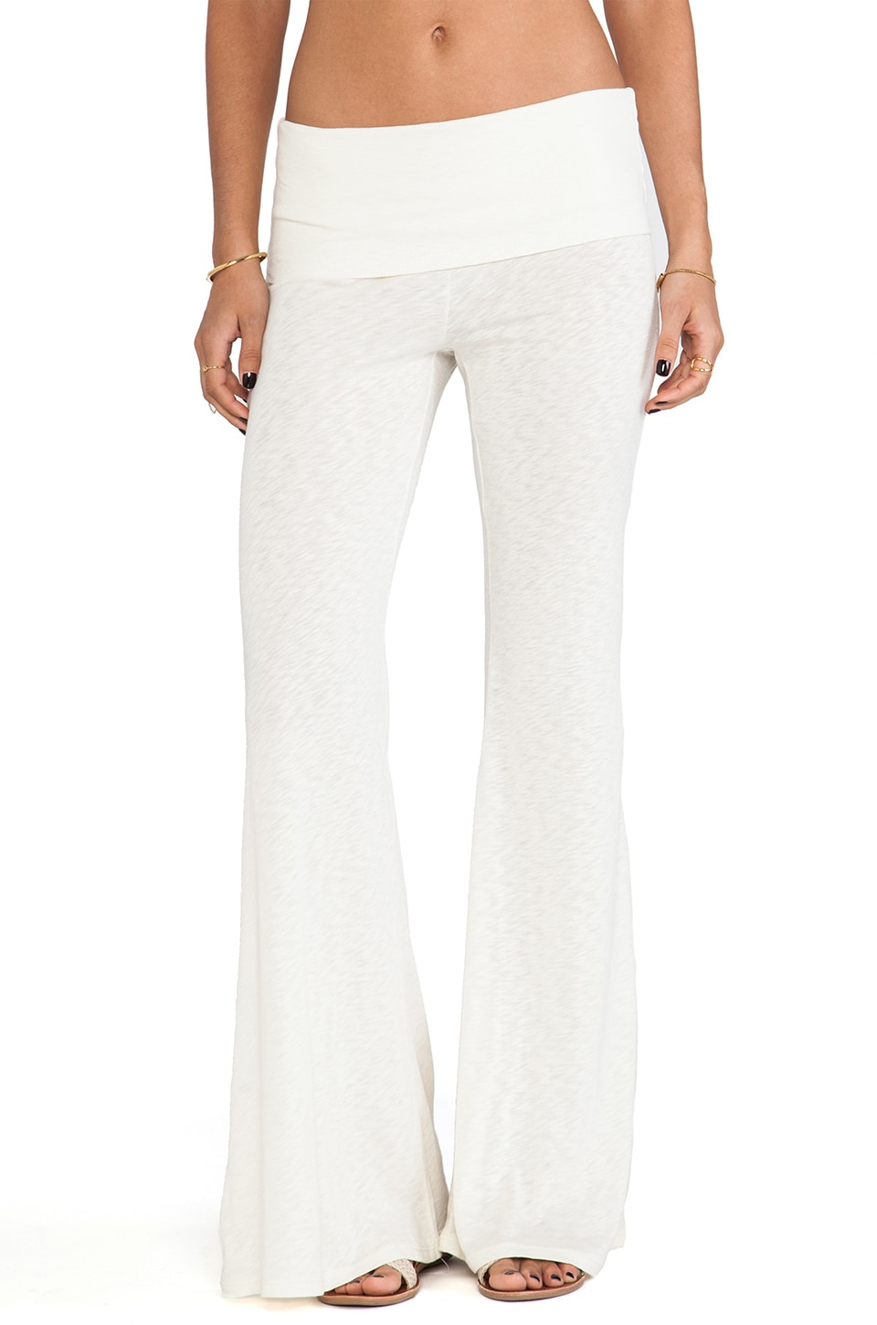 Blue Life Daydreamer Flare Pant in Dirty White