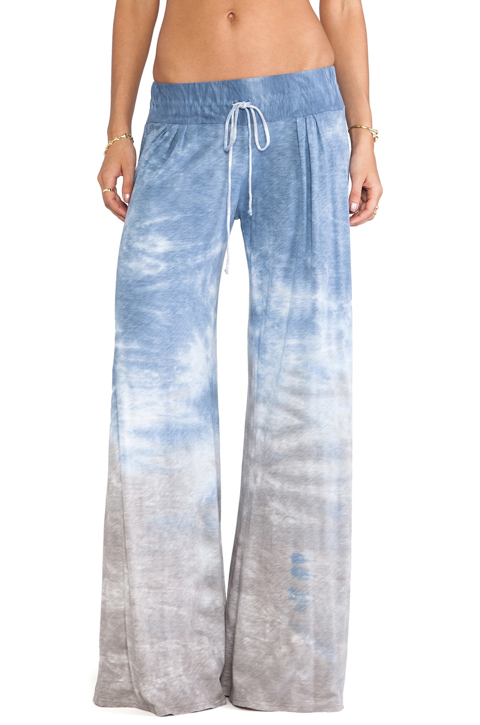Blue Life New Moon Wide Leg Pant in Sky Tie Dye