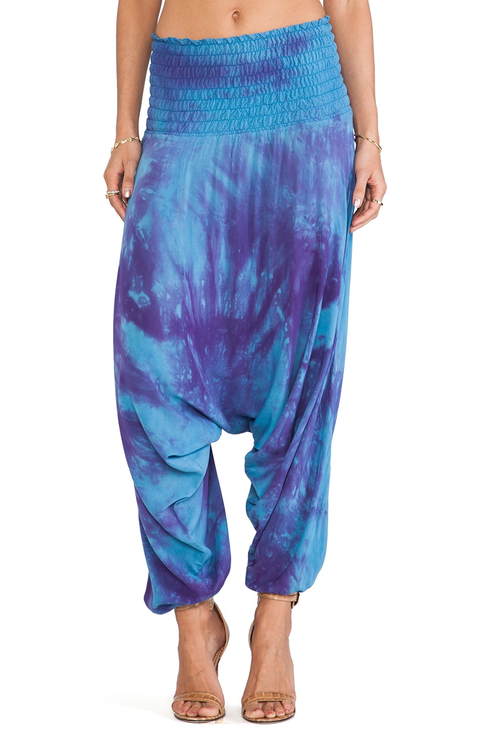 Blue Life Easy Breezy Harem Pant in Twilight