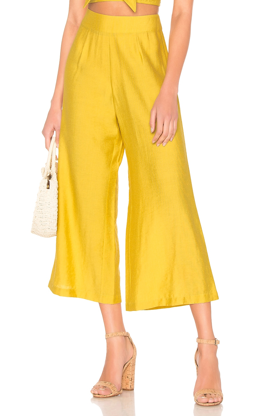 Blue Life High Waisted Culotte in Mimosa