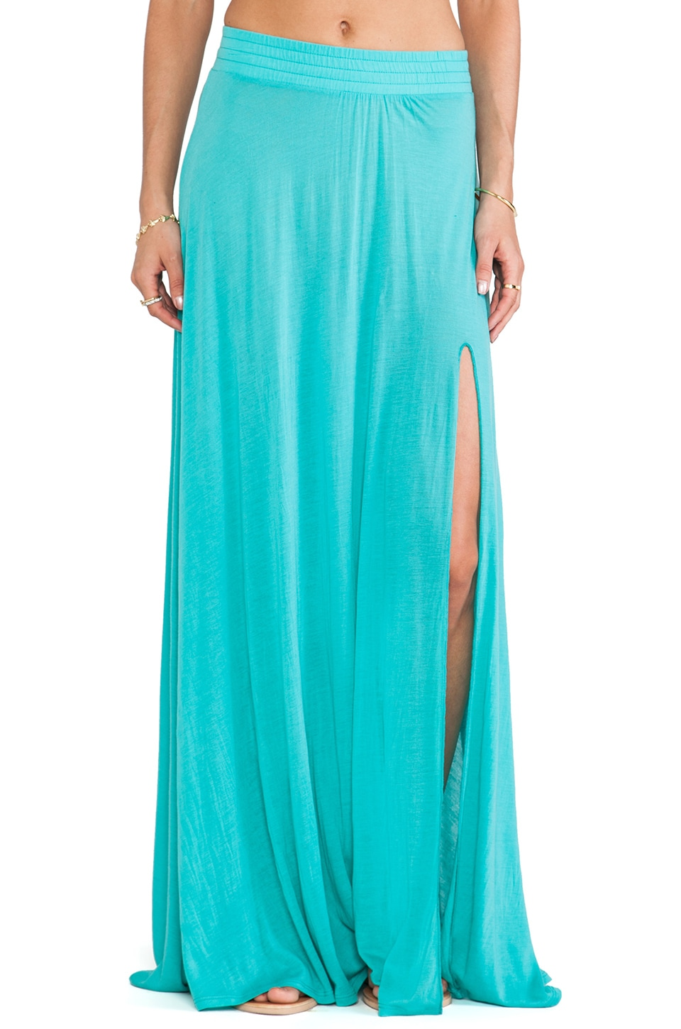 Blue Life Festival Maxi Skirt in Mint