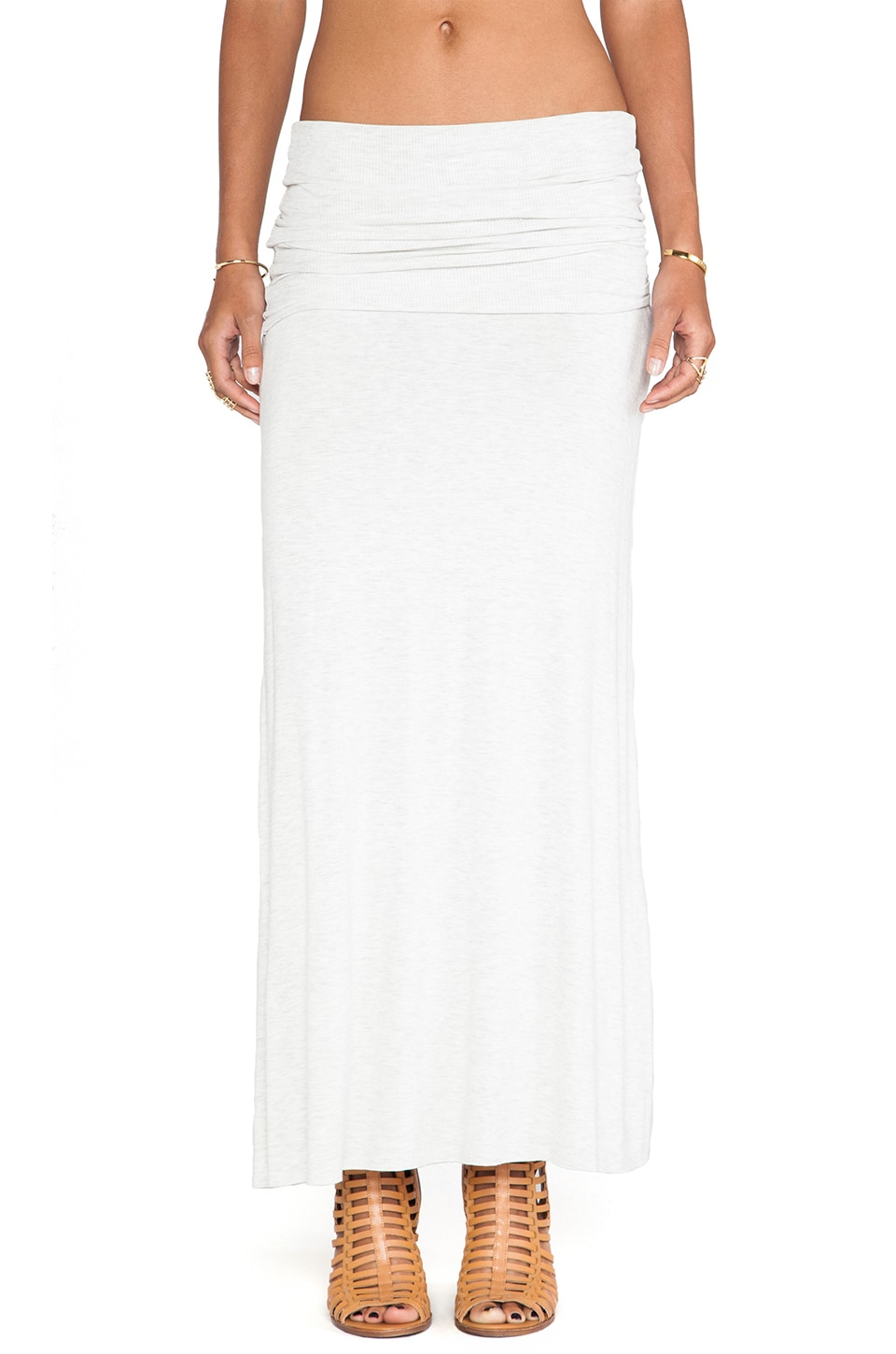 Blue Life Fold Me Over Skirt in Silver Silk Sheets
