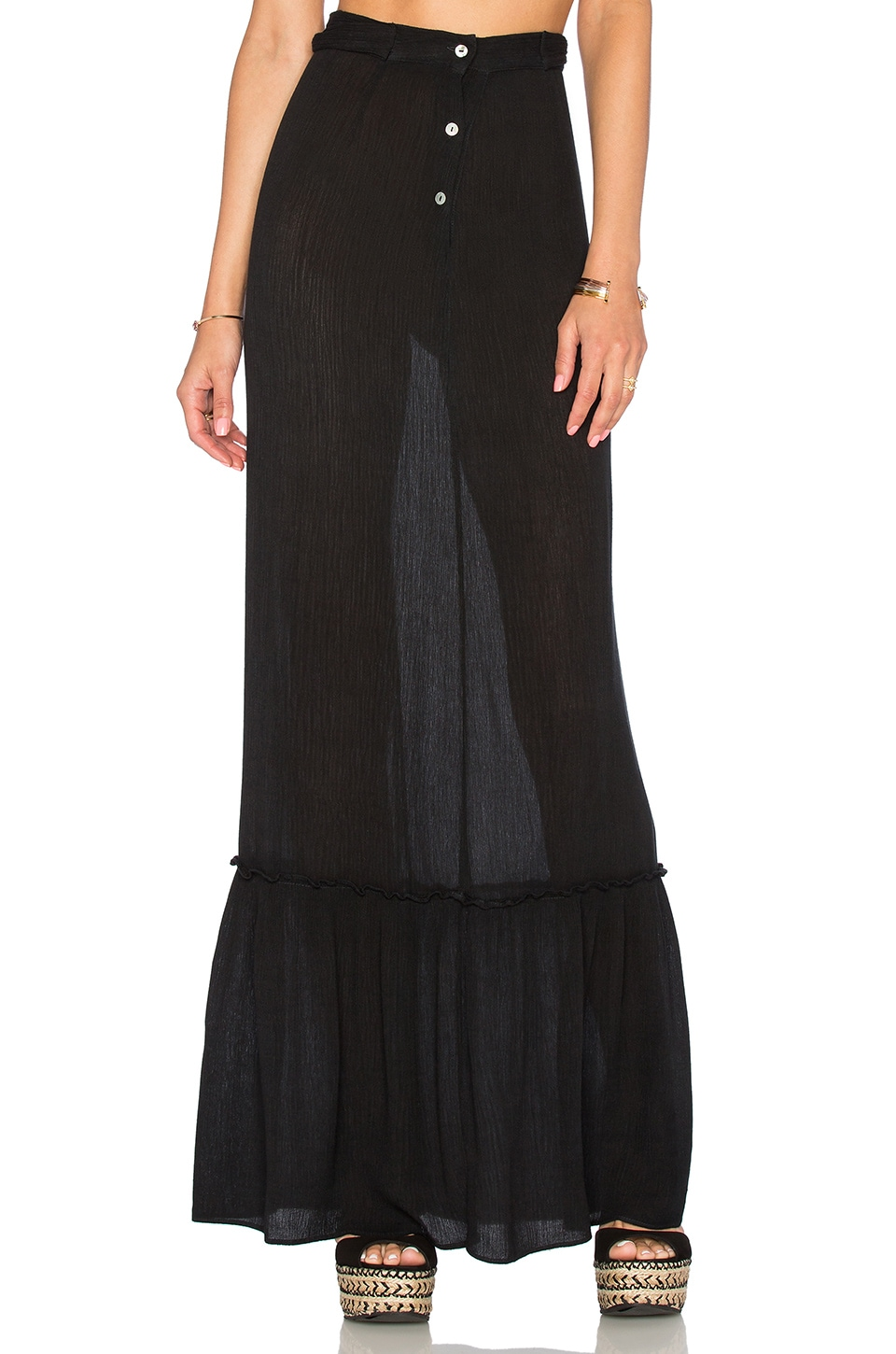 Blue Life Perfect Waist Maxi Skirt in Onyx