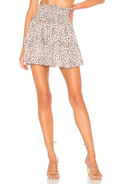 Blue Life Niko Skirt in Mini Leopard Cream