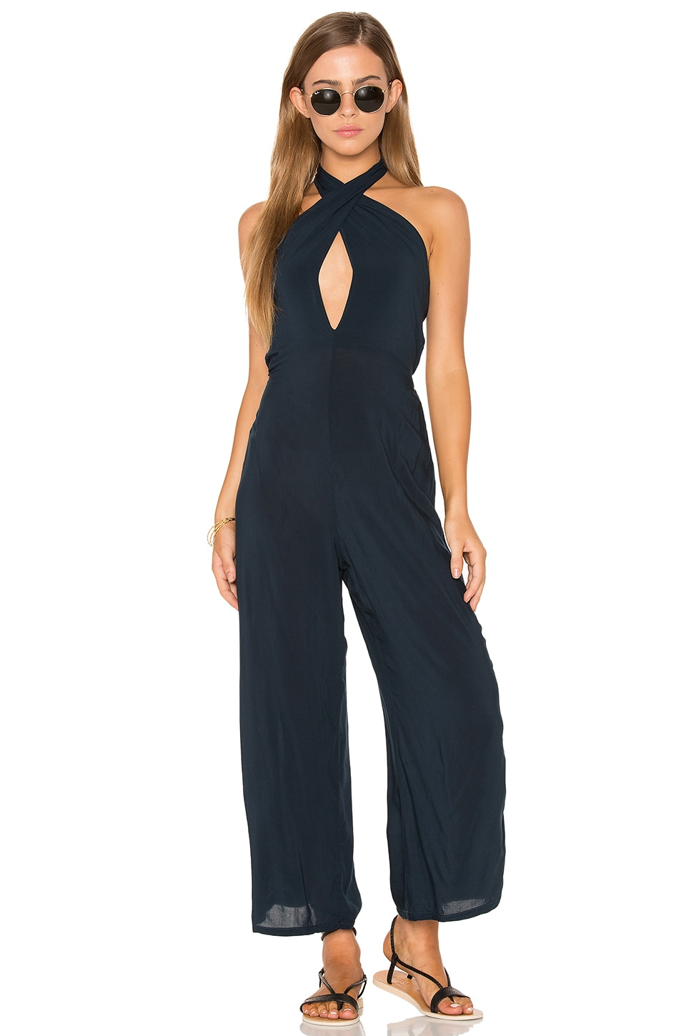 Electra Tie Front Jumpsuit by Blue Life