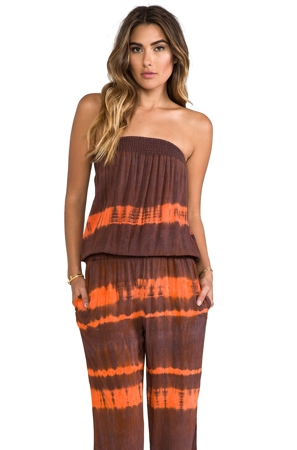 Blue Life Tie Bottom Jumper in Copper Tie-Dye