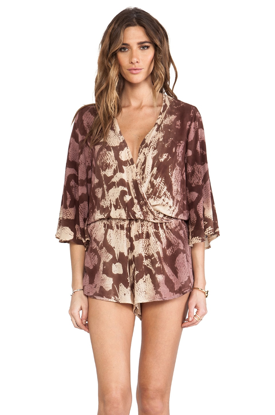 Blue Life Wild And Free Romper in Sand Snake