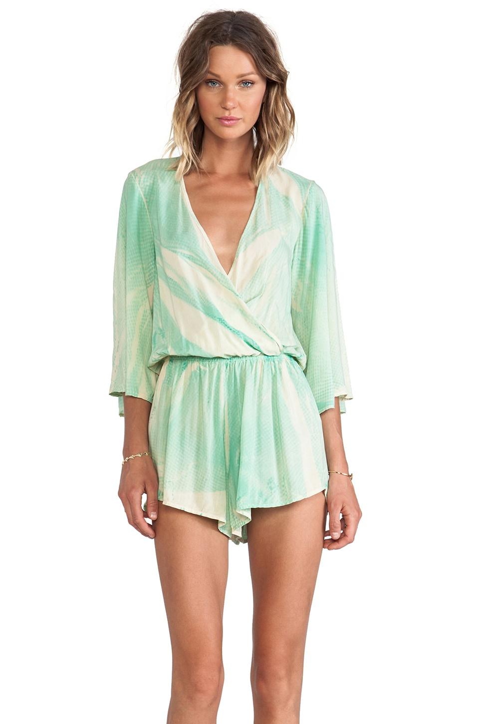 Blue Life Wild and Free Romper in Sea Snake