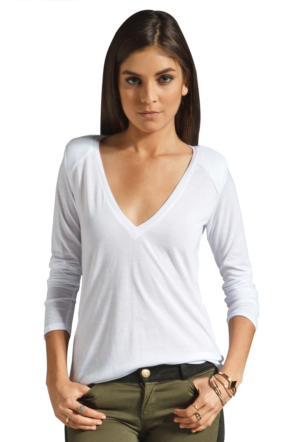 Blue Life Sport Your Shoulder Long Sleeve Tee in White