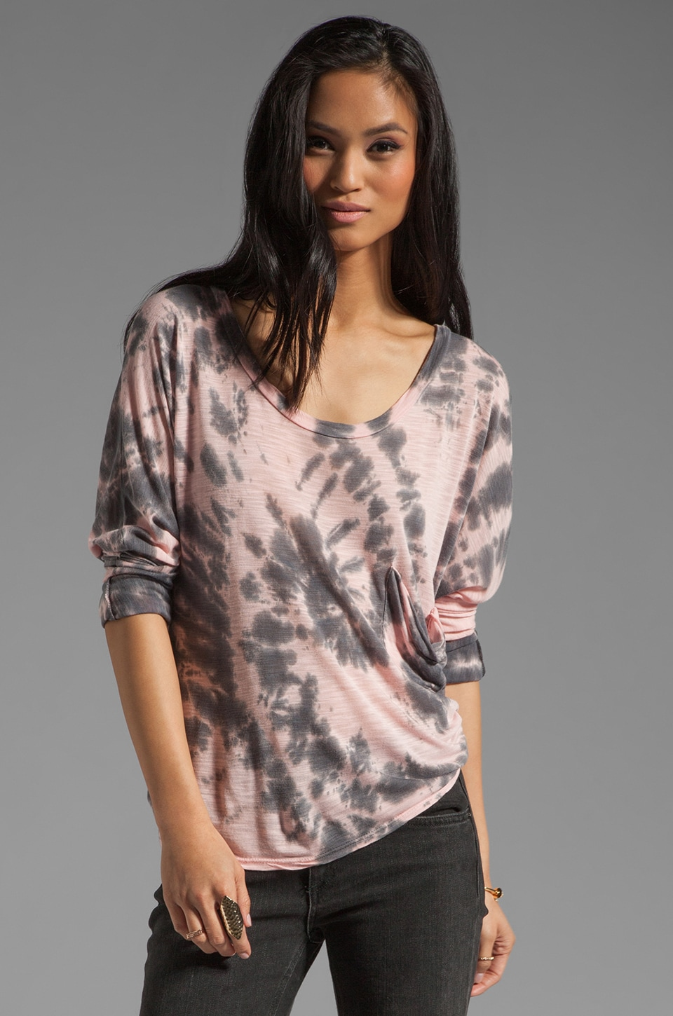 Blue Life Marteeni Top in Pink Tie Dye