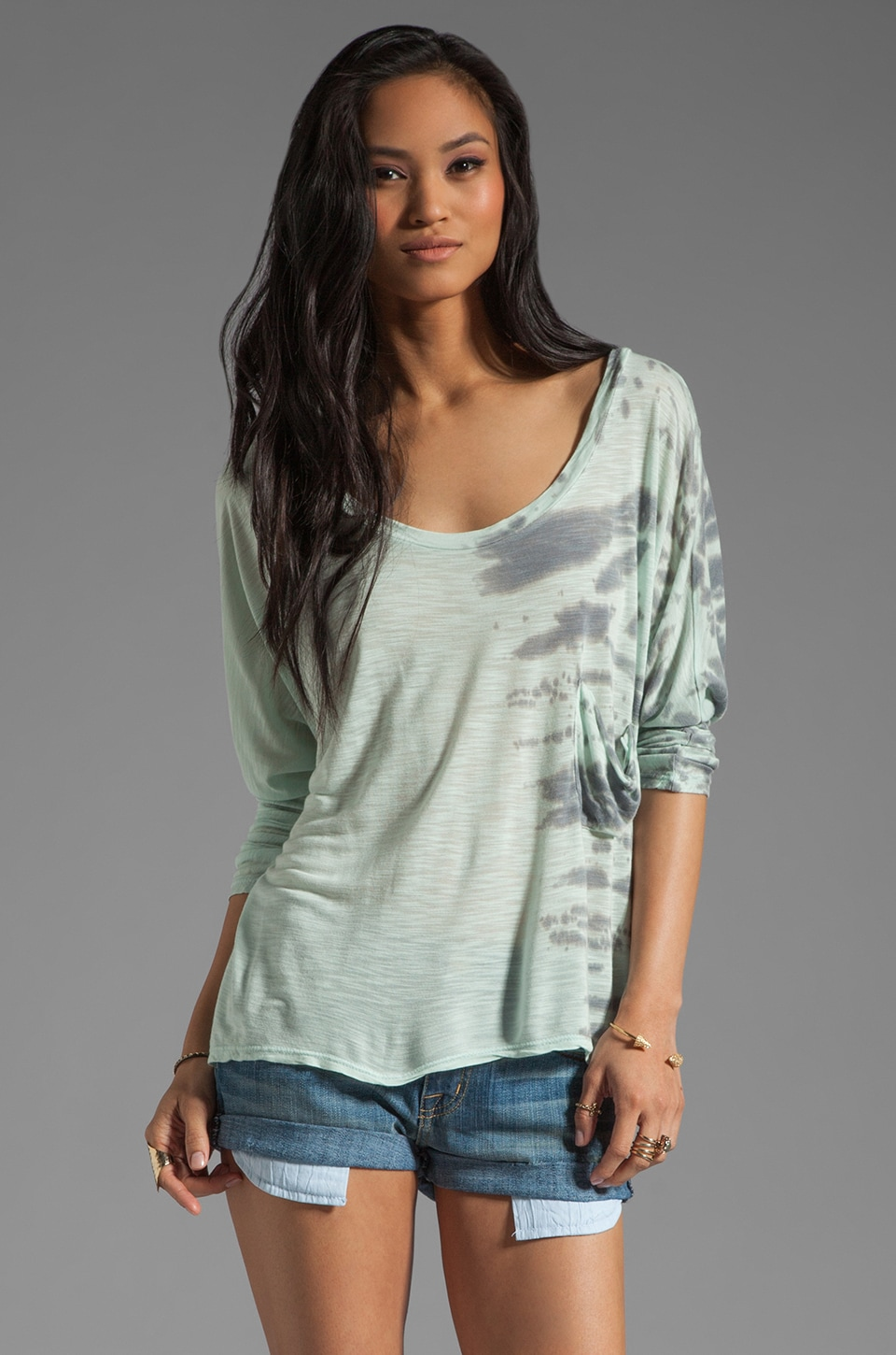 Blue Life Marteeni Top in Ocean Tie Dye