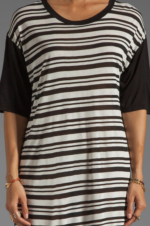 Blue Life Boy T-Shirt Dress in Black/White
