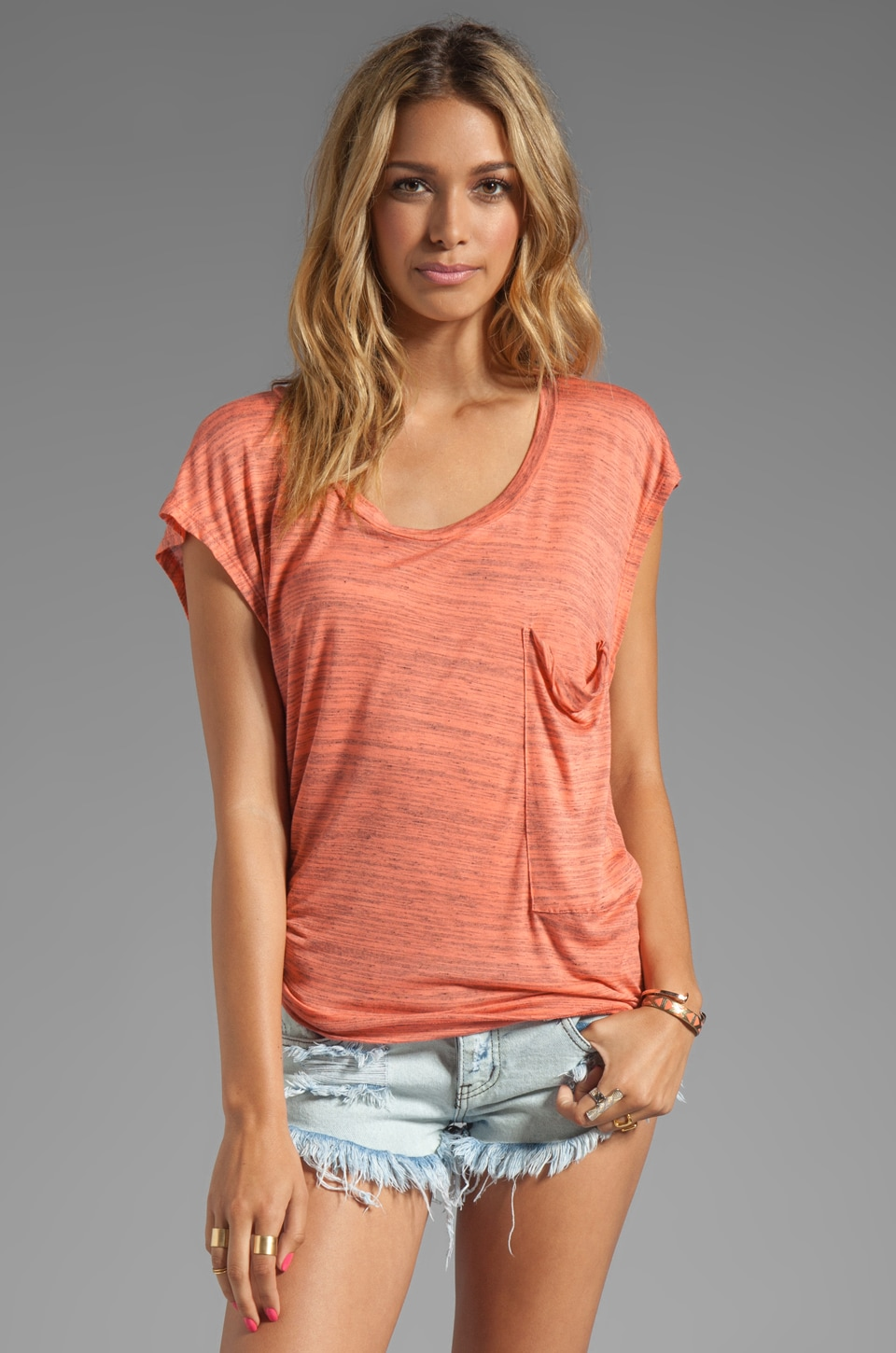 Blue Life Boardwalk Best Bum Tee in Sunset