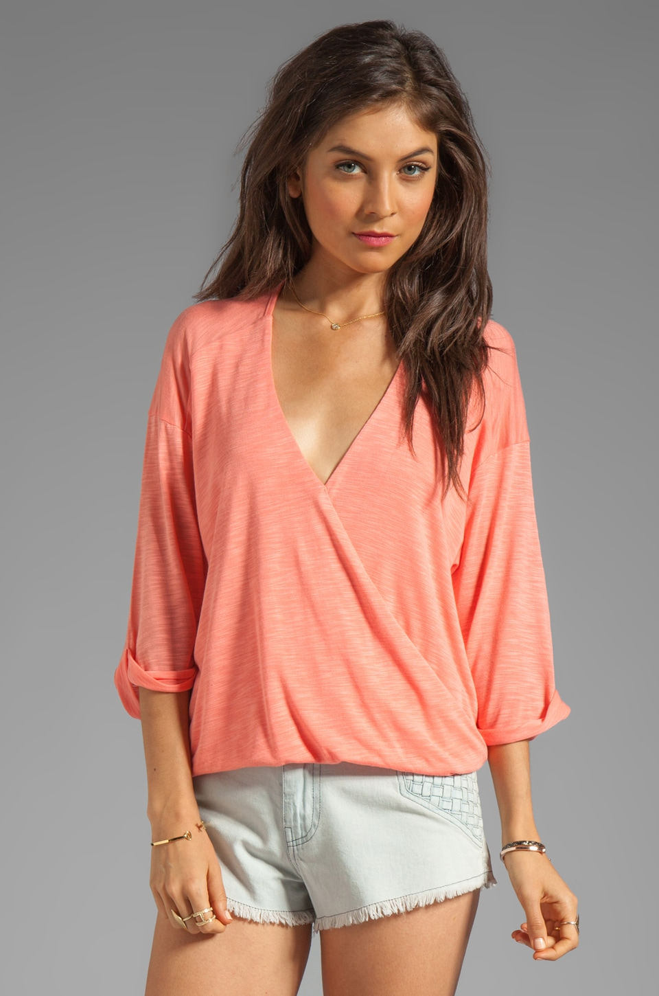 Blue Life 3/4 Sleeve Hayley Top in Mesa