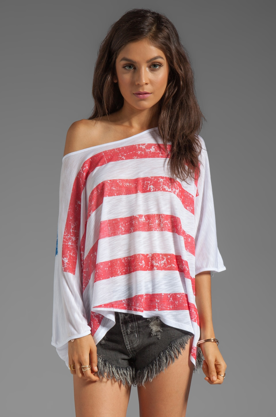 Blue Life Flag Phoenix Poncho in Flag