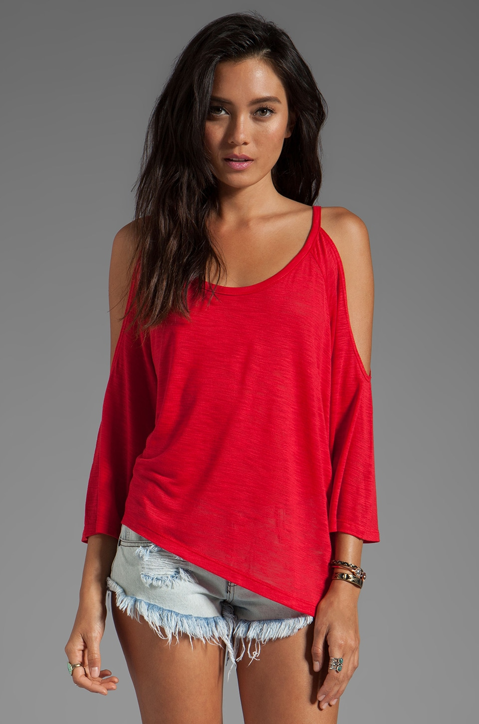 Blue Life Trendsetter Tee in Red