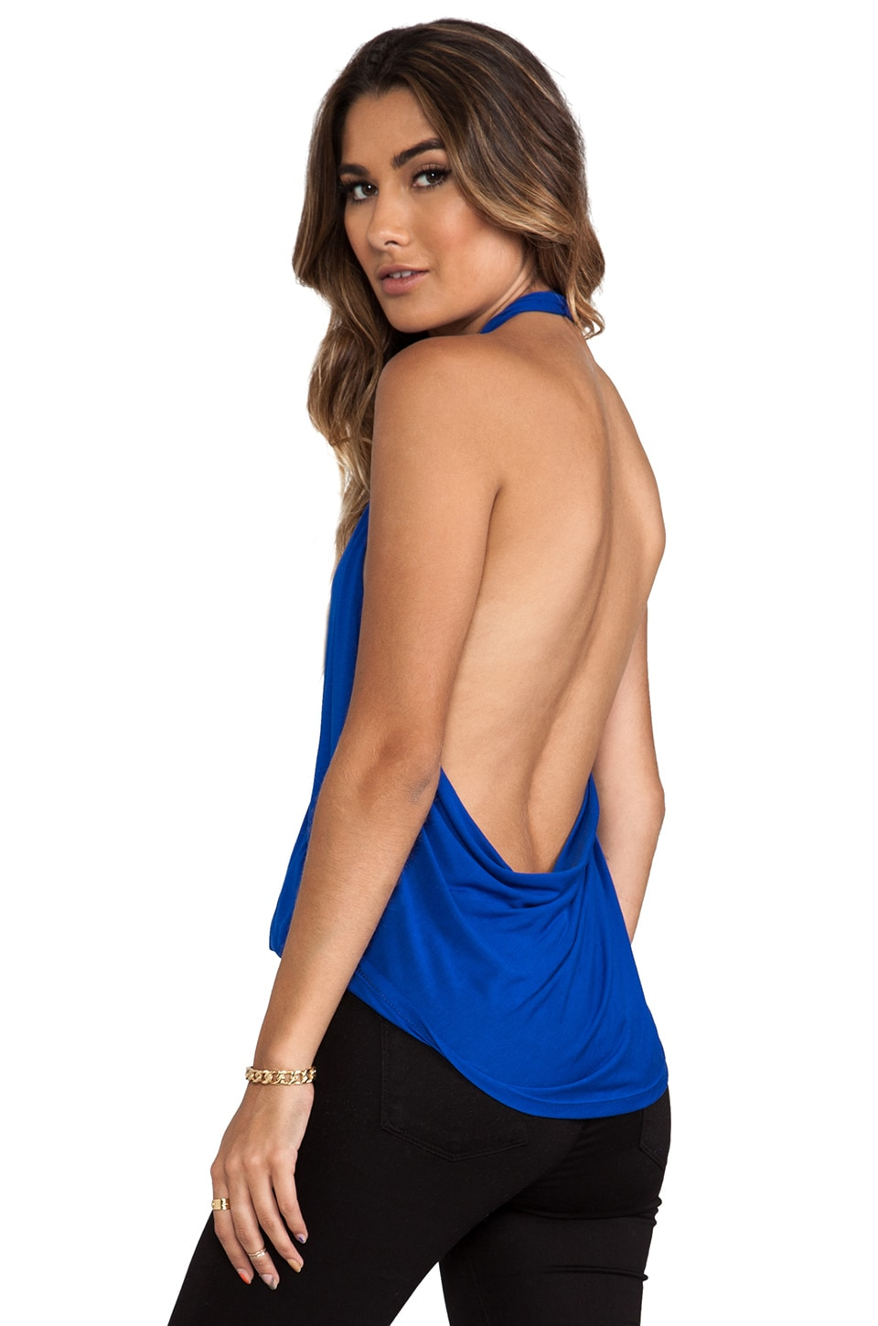 Blue Life Cowl Back Hayley Halter in Cobalt