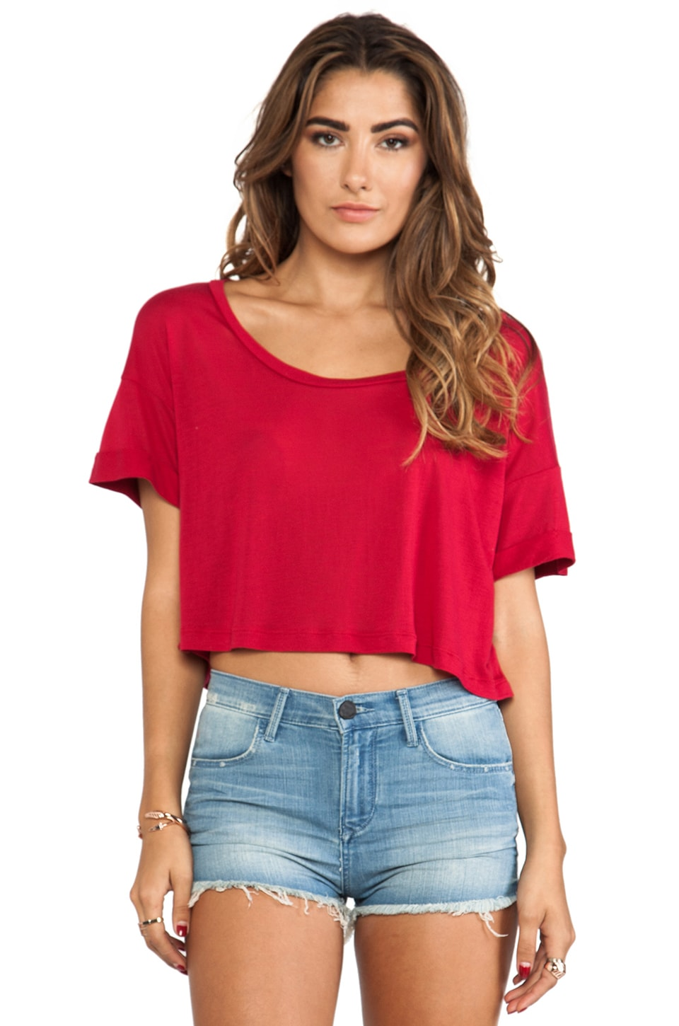 Blue Life Endless Summer Crop Tee in Berry