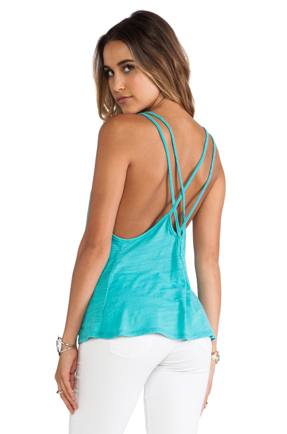 Blue Life Sunburst Cami in Mint