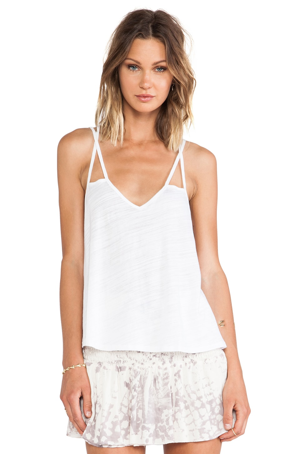 Blue Life Sunburst Cami in White