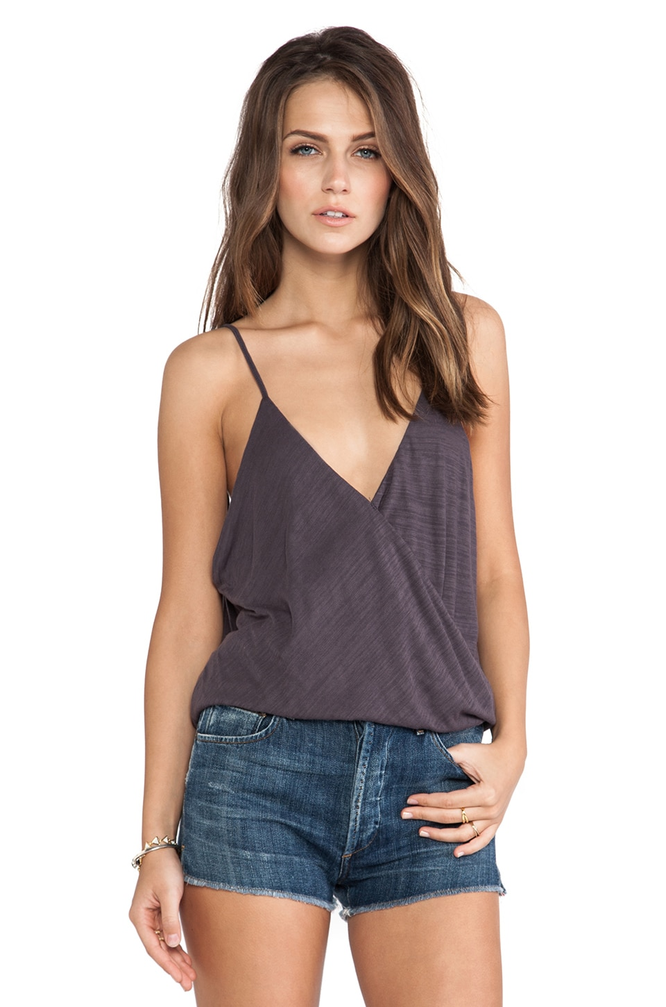 Blue Life Free Spirit Top in Faded Black