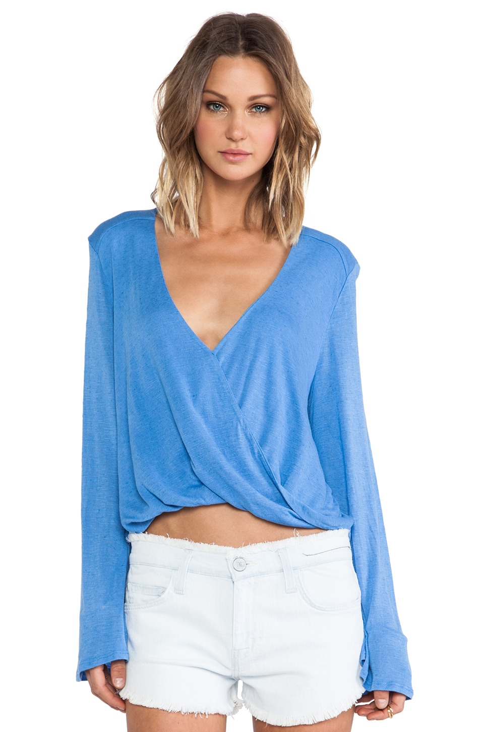 Blue Life Hayley Top in Capri Blue
