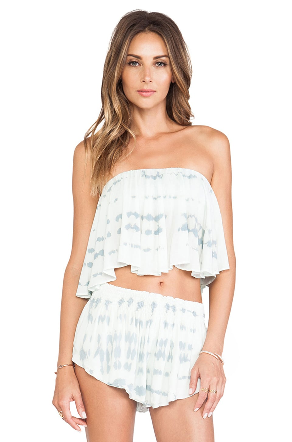 Blue Life Wildest Dreams Top in Light Blue & White