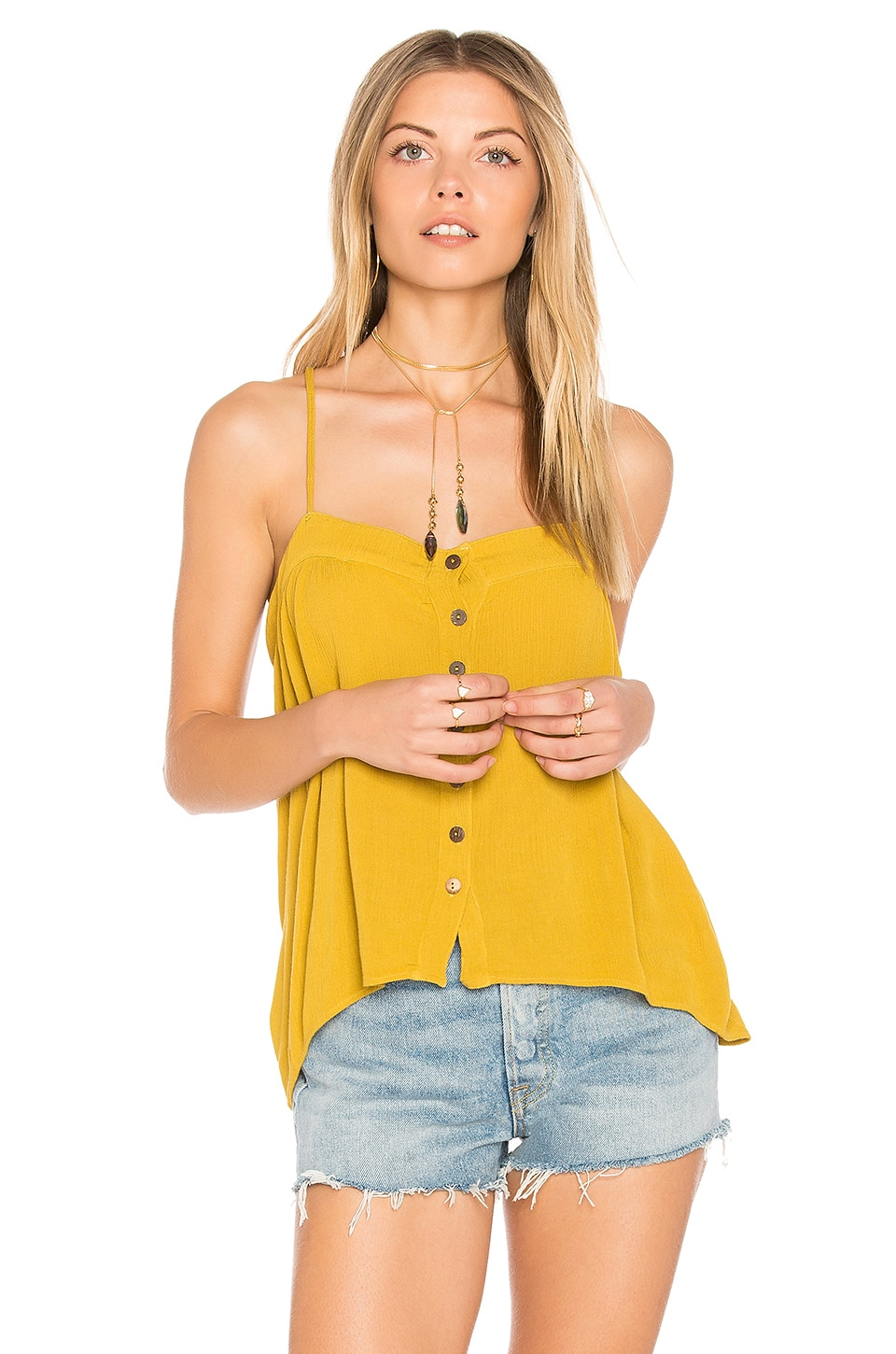 Mohave Button Cami by Blue Life