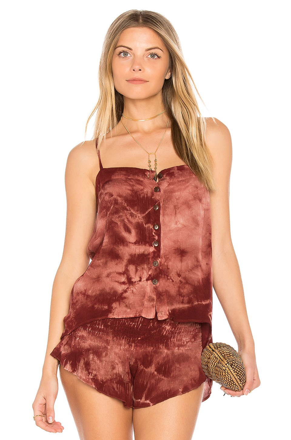 Mohave Button Front Cami by Blue Life