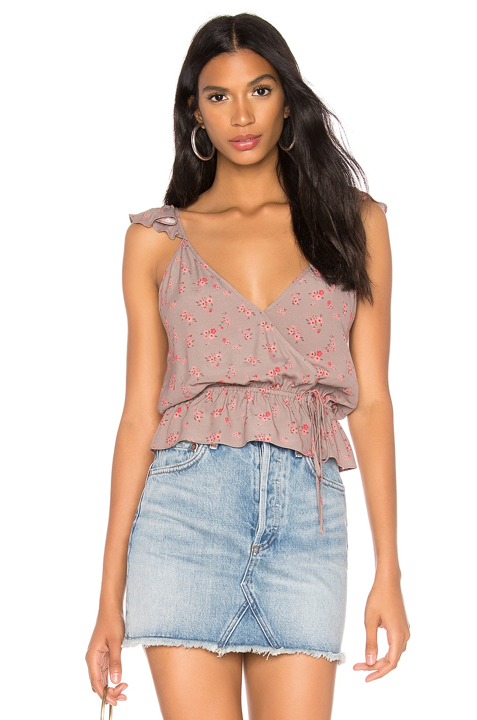 Blue Life Kaitlyn Top in Magenta Mini Floral