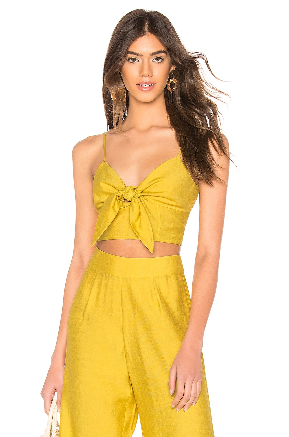 Blue Life Mila Tie Front Top in Mimosa