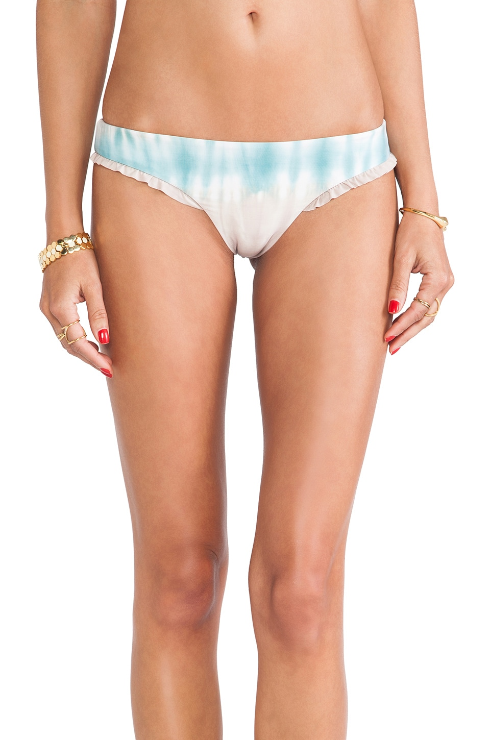 Blue Life Gobi Brazillian Ruffle Bottom in Juniper Tie Dye